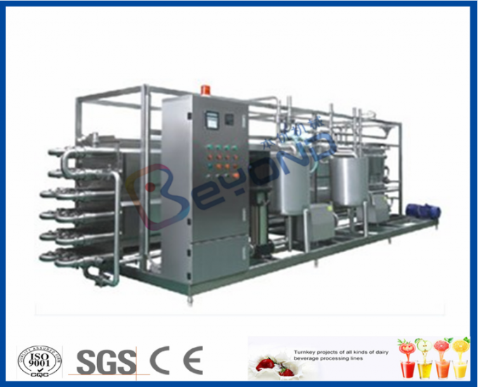 CE Fruit Processing Equipment , Tubular Uht Processing Equipment For Fruit Juice