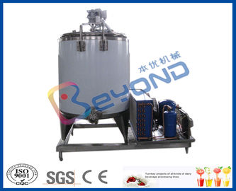Milk Cooling Stainless Steel Tanks for Cooling / Storage Fresh Milk Customized Size