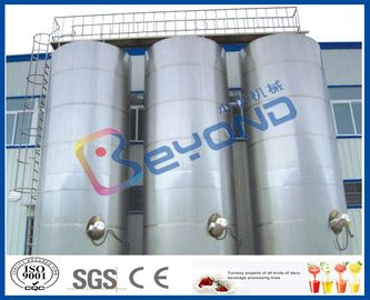 China Large Outdoor Stainless Steel Storage Tanks / SUS304 SUS316 Stainless Steel Dairy Equipment supplier