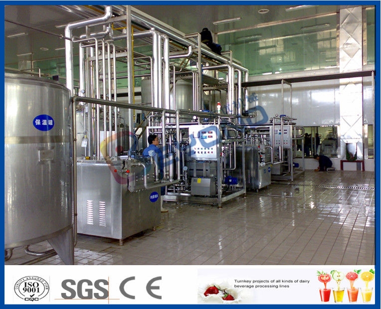 1000 - 8000LPH UHT Milk Processing Line 200 - 500ml Aseptic plastic Pouch Package