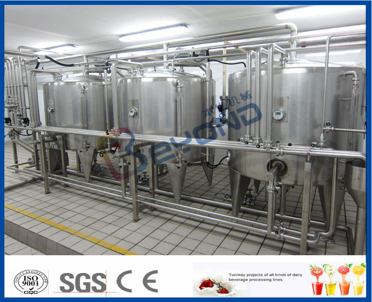 Full Auto Uht Milk Processing Line Dairy Milk Processing