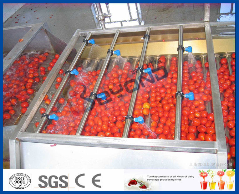 Tomato Processing Machinery Tomato Processing Line For Tomato Juice / Tomato Paste Production