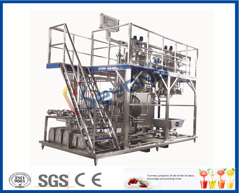 3000 - 20000LPH Full Automatic Beverage Production Line With CIP System / PLC Control