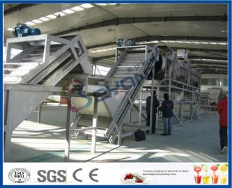 SUS304 / SUS316L Complete Apple Processing Line , Fruit Juice Equipment