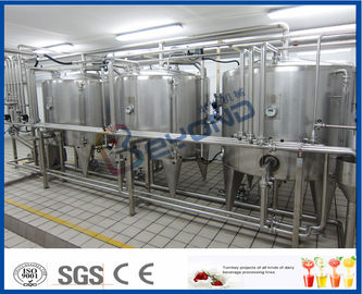 Full Auto UHT Milk Processing Line , Dairy Milk Processing Plant Milk Production Equipment