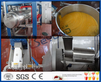 Mango Processing Equipment Mango Juice Processing Plant , Mango Juice Extractor Machine