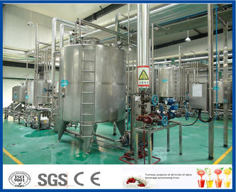 ISO SUS 304 Complete Fruit Juice Processing Line with Plastic / Glass Bottle Filling Machine