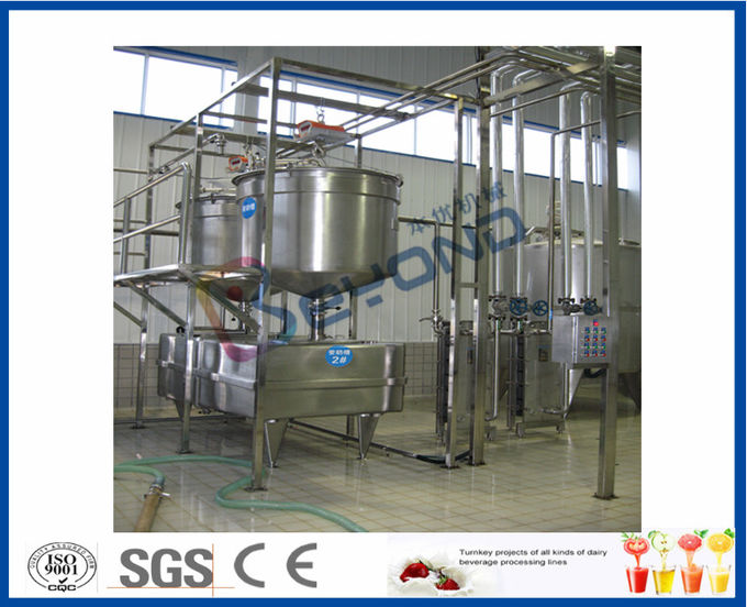 1000LPH 2000LPH 3000LPH Industrial Yogurt Making Machine With 100ml Plastic Cups Package