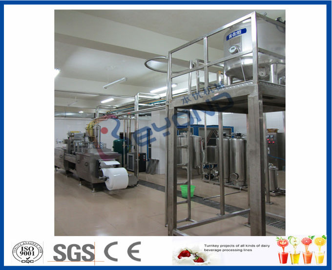 ISO 10000LPD stirred Industrial Yogurt Making Machine with plastic containers or cups package